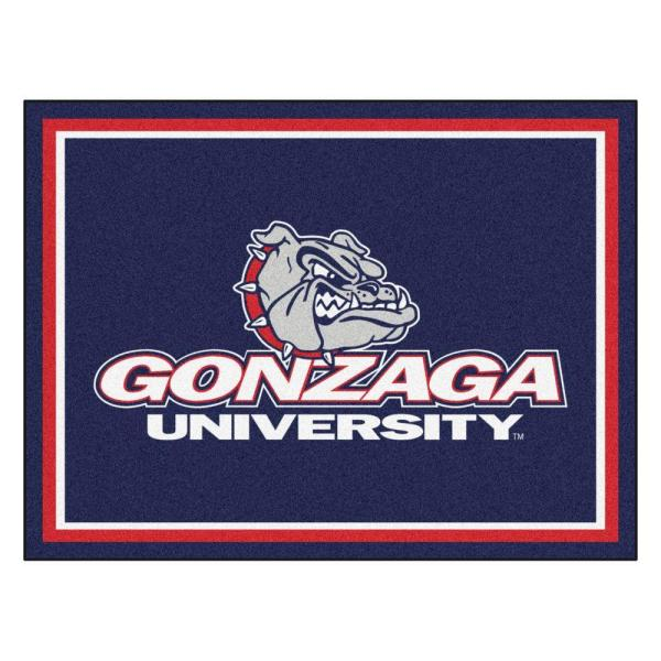 NCAA Gonzaga University Navy Blue 8 ft. x 10 ft. Indoor Area Rug