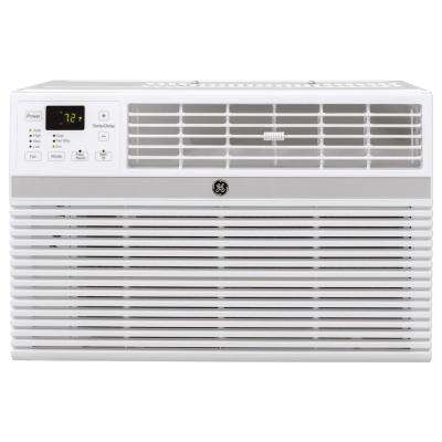 18,000 BTU 230-Volt Smart Window Air Conditioner with Remote in Gray