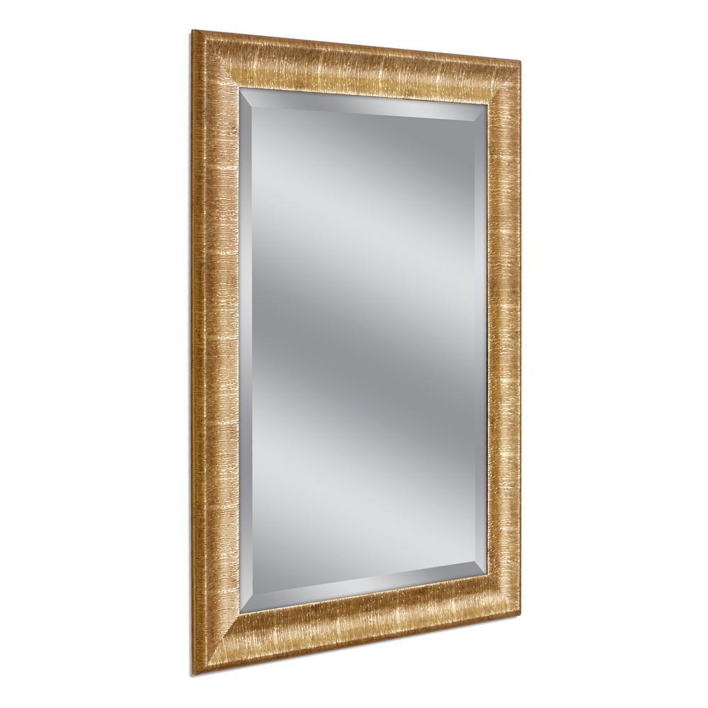 SoHo 31 in. W x 43 in. H Framed Wall Mirror in Gold