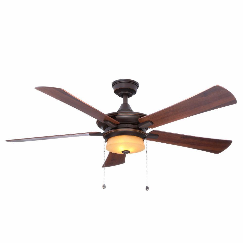 Winthrop 52 in. Indoor Rustic Bronze Ceiling Fan with Light Kit