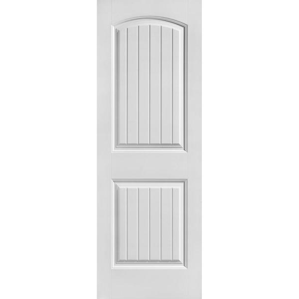 28 in. x 80 in. Cheyenne Smooth 2-Panel Camber Top Plank Hollow Core Primed Composite Interior Door Slab
