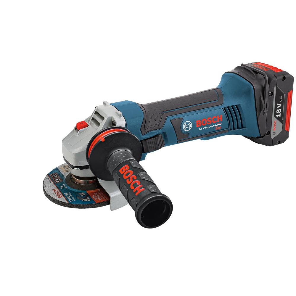 18-Volt Lithium Ion 4.5 in Angle Grinder Bare Tool with Lock-On