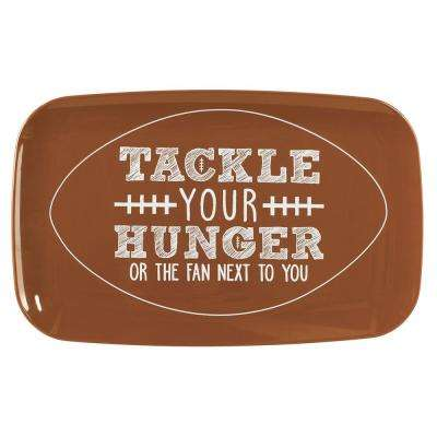 11 in. x 18 in. Rectangular Tackle Your Hunger Football Plater (2-Pack)