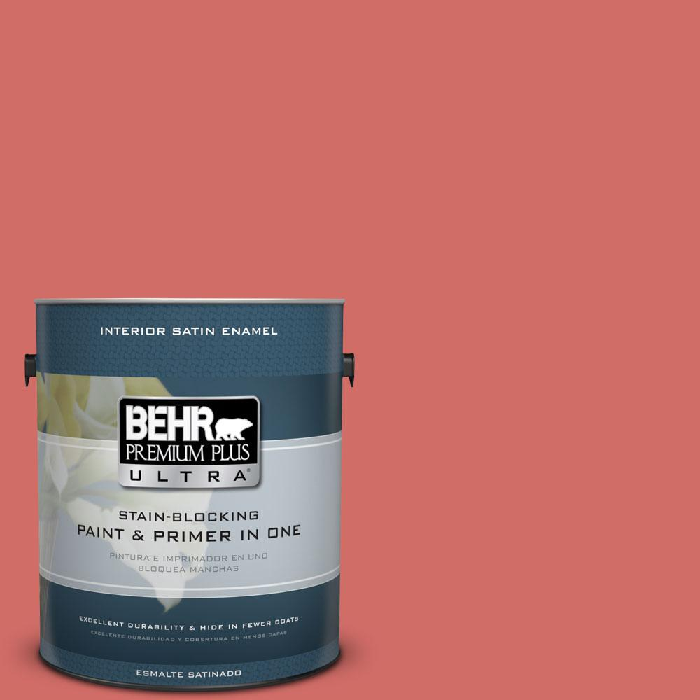 BEHR Premium Plus Ultra 1 gal. #M160-6 Matador's Cape Satin Enamel Interior Paint