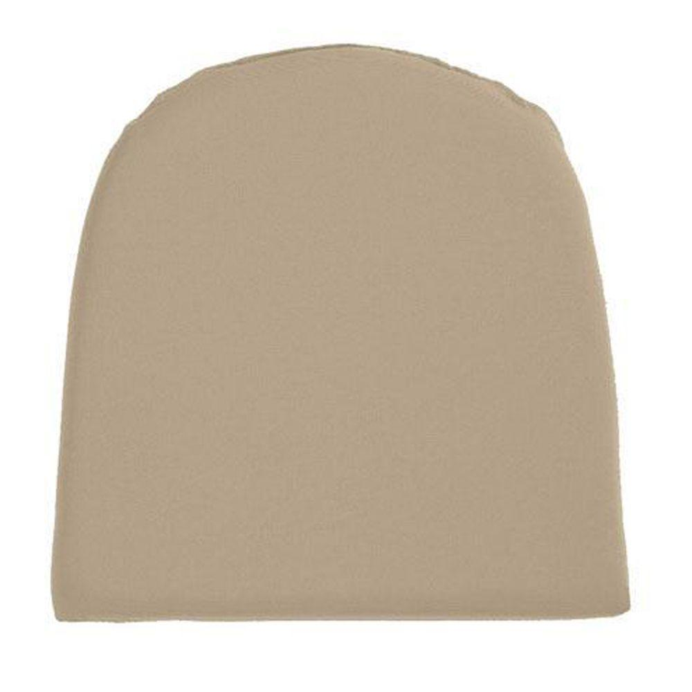 Home Decorators Collection Sunbrella Heather Beige Contoured Outdoor Seat Cushion