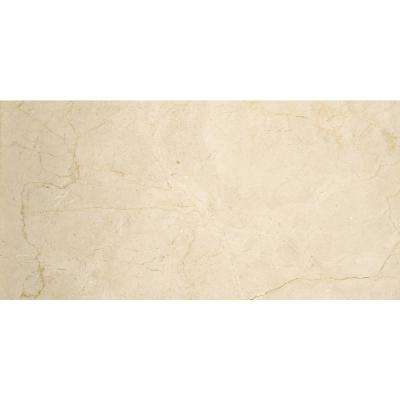 Marble Crema Marfil Classico Polished 11.81 in. x 23.62 in. Marble Floor and Wall Tile
