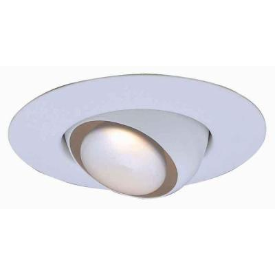 6 in. R30 White Recessed Can Light Eyeball Trim