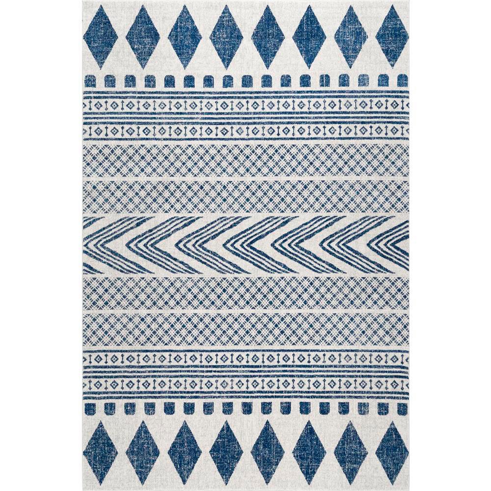 Nuloom shaina tribal blue 8 ft x 10 ft area rug