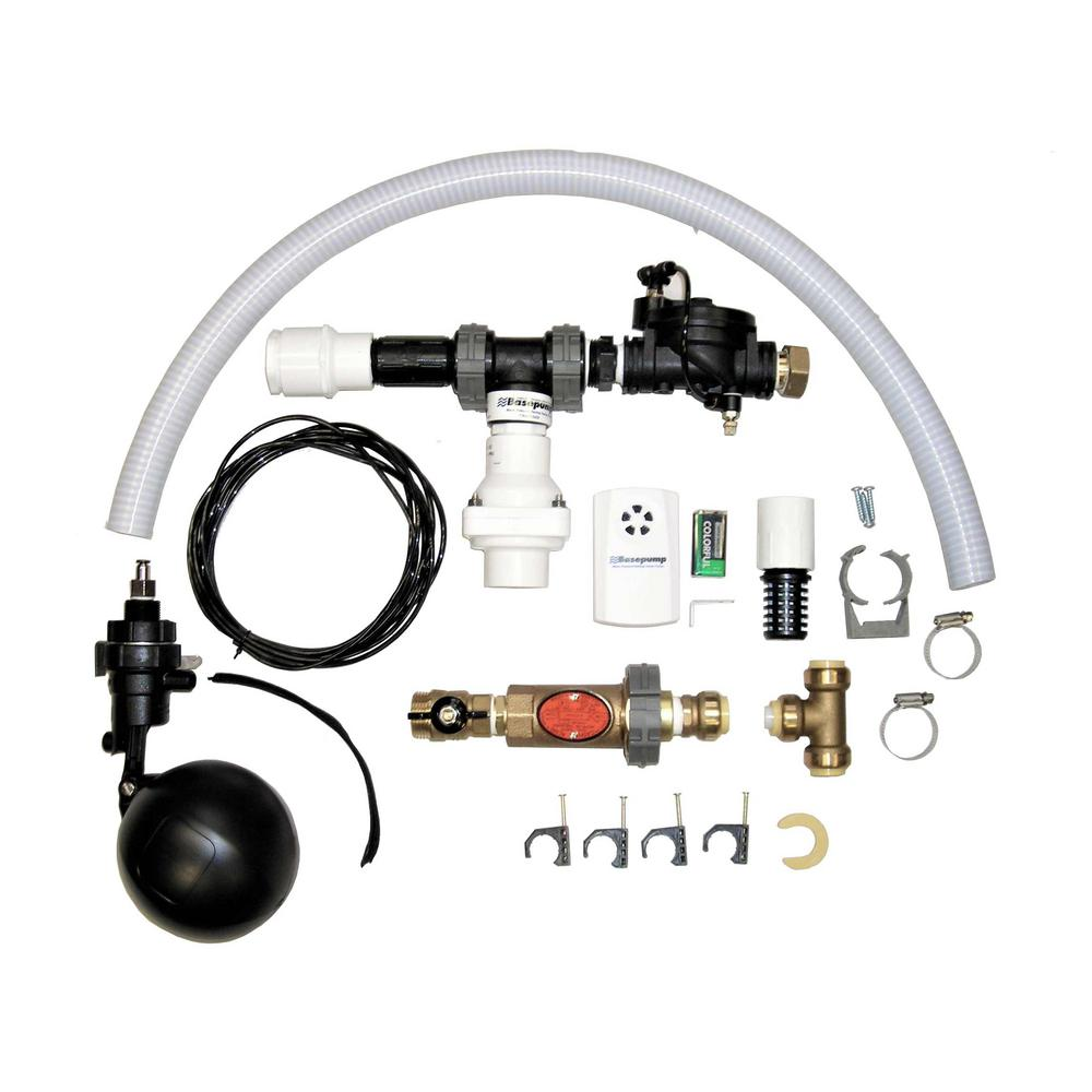 how much to install city water backup sump pump