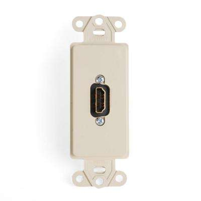 Decora Insert with QuickPort HDMI Feedthrough Connector, Ivory