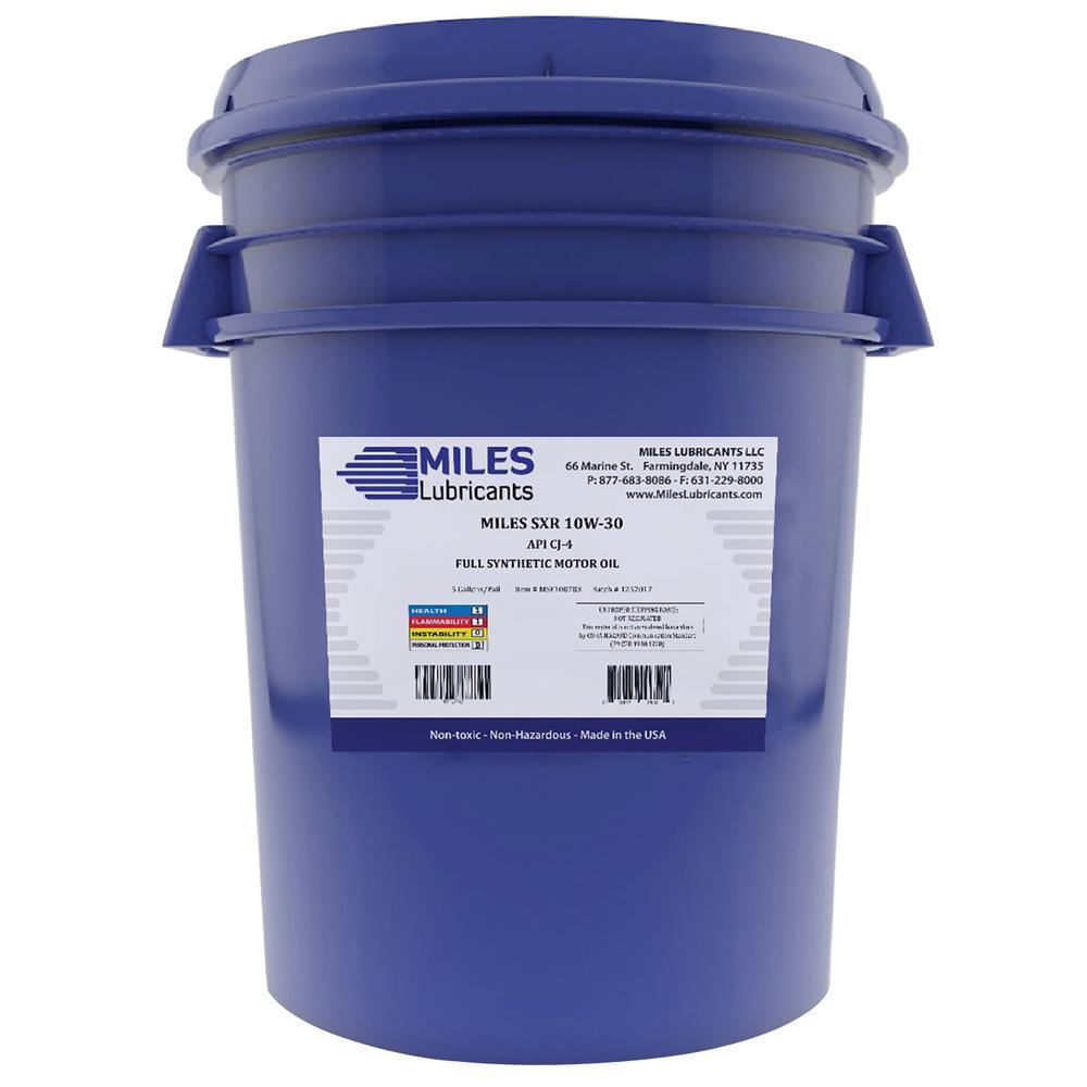 Milesyn SXR 10W30 API GF-5/SN 5 Gal. Full Synthetic Motor Oil Pail
