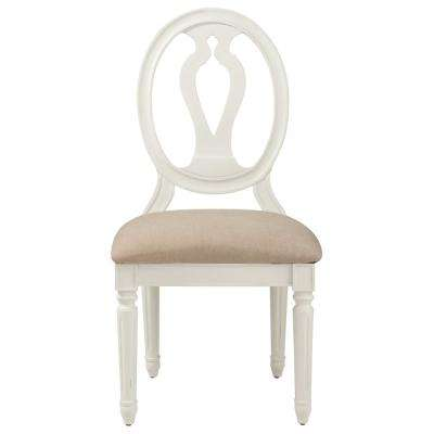 Ingrid Rubbed Ivory Wood Side Chair