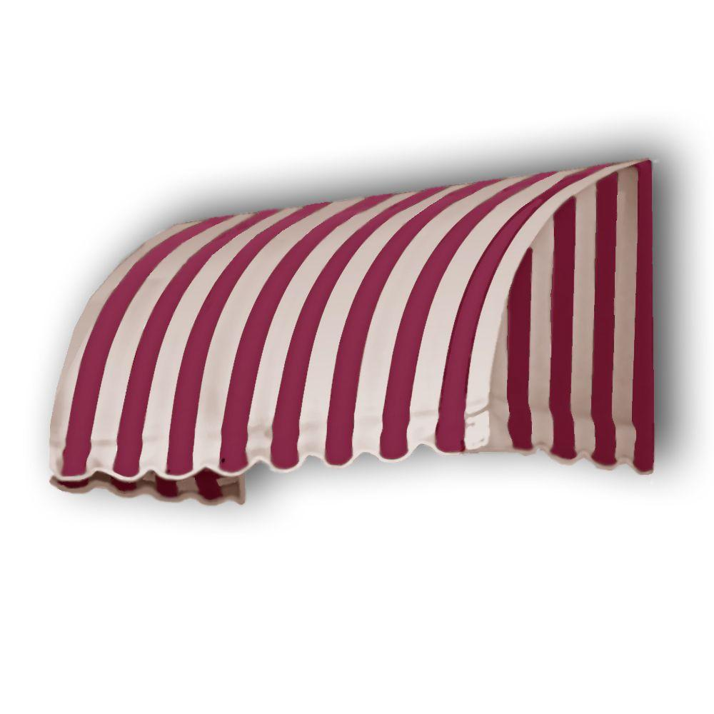 AWNTECH 35 ft. Savannah Window/Entry Awning (44 in. H x 36 in. D) in Burgundy/Tan Stripe