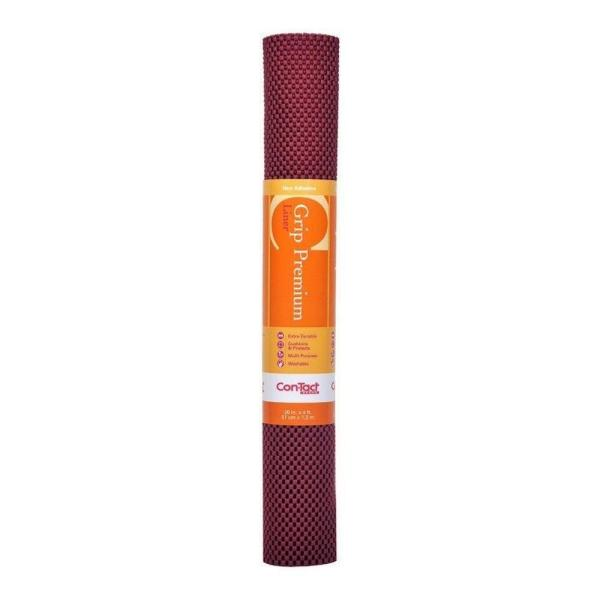Grip Premium 20 in. x 4 ft. Engine Red Non-Adhesive Thick Grip Drawer and Shelf Liner (6 Rolls)