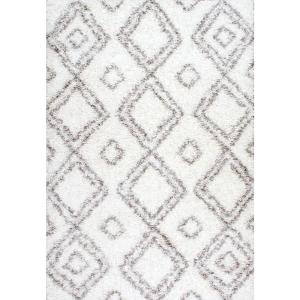 nuLOOM Iola Easy Shag White 8 ft. x 10 ft. Area Rug by nuLOOM