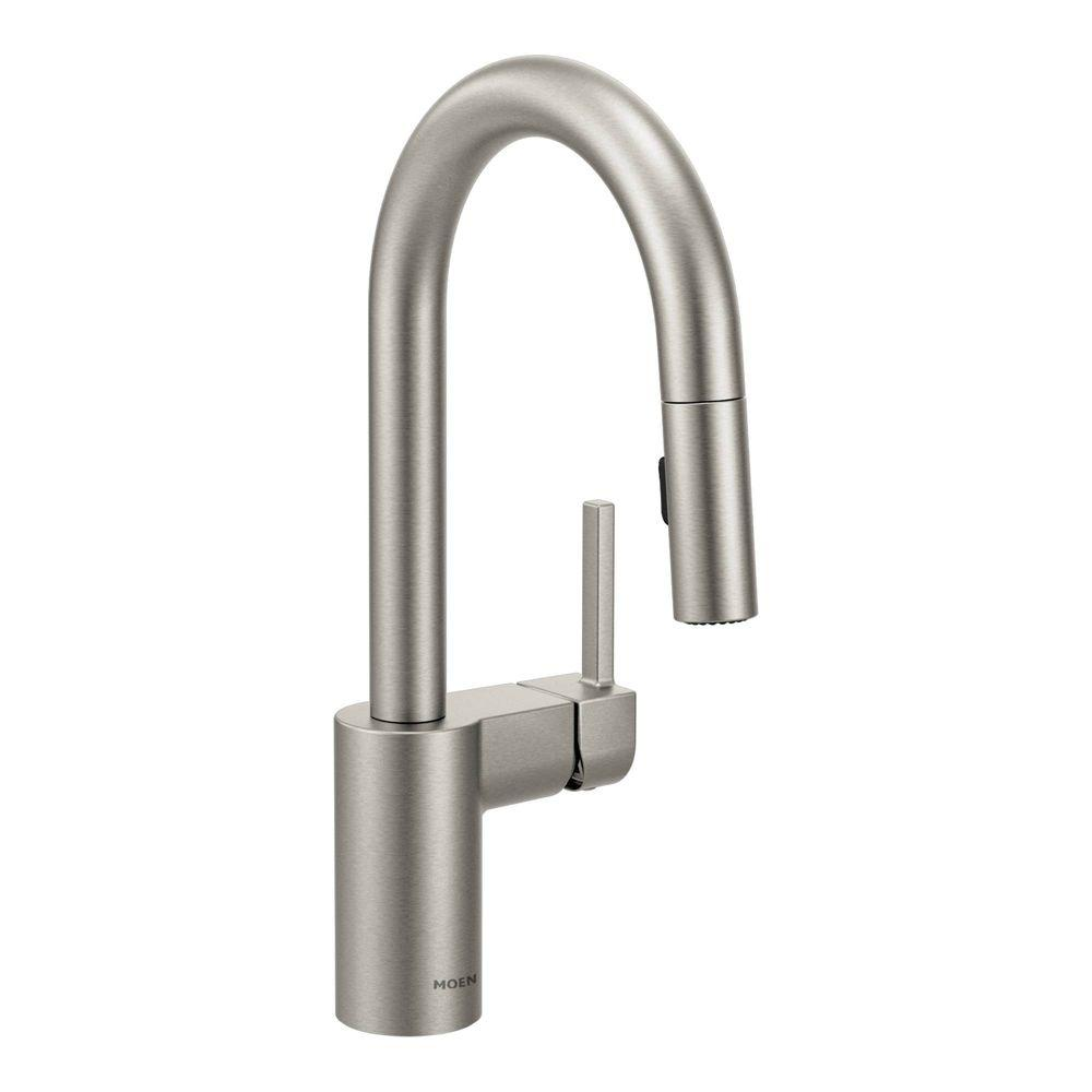 MOEN Align Single Handle Bar Faucet Featuring Reflex in Spot Resist Stainless