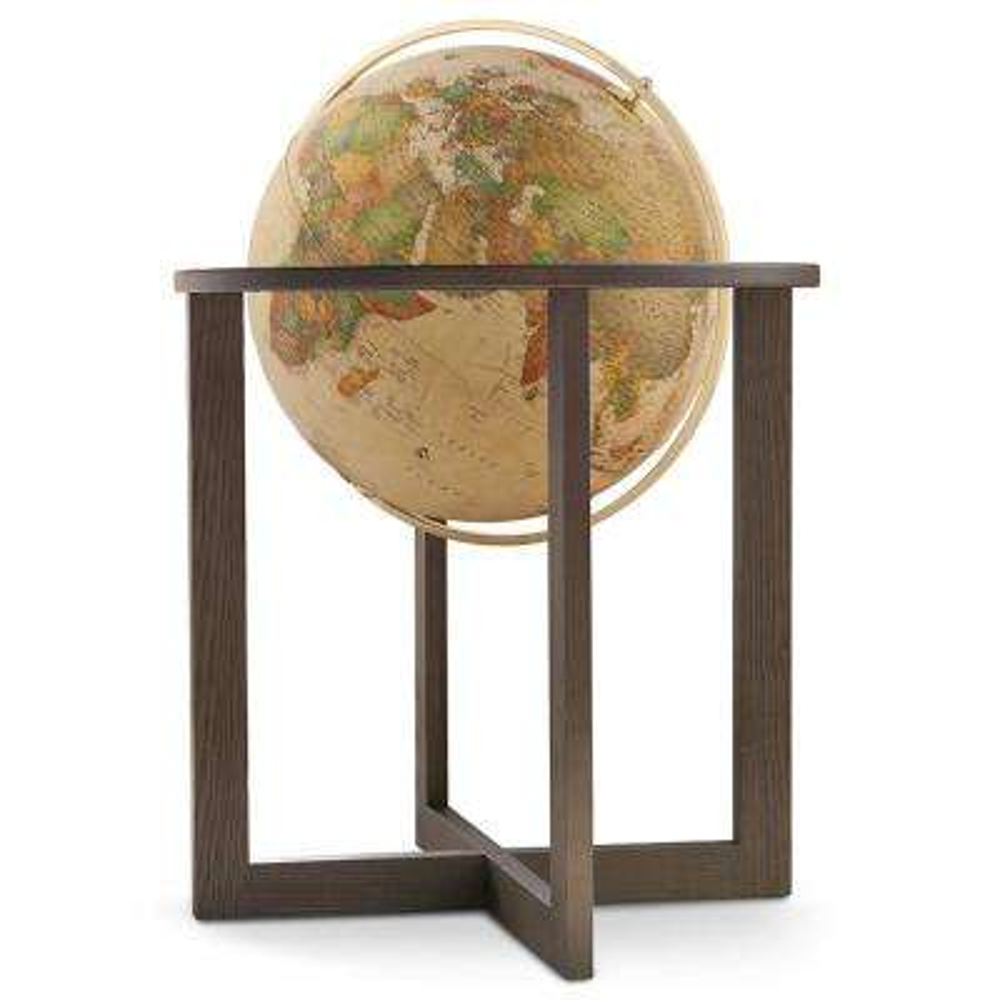 San Marino 20 in. Landmass & Classic Antique Oceans Floor Standing Globe