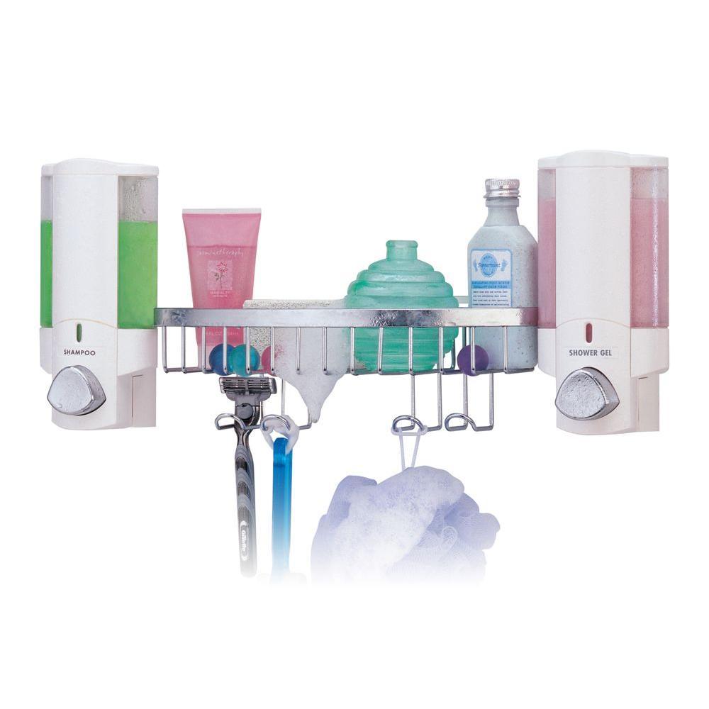 Better Living Products AVIVA Dispenser Shower Basket In White 76254 14BSK    The Home Depot