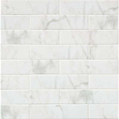 Marmi Blanco White 4 In X 16 Glazed Ceramic Wall Tile 11