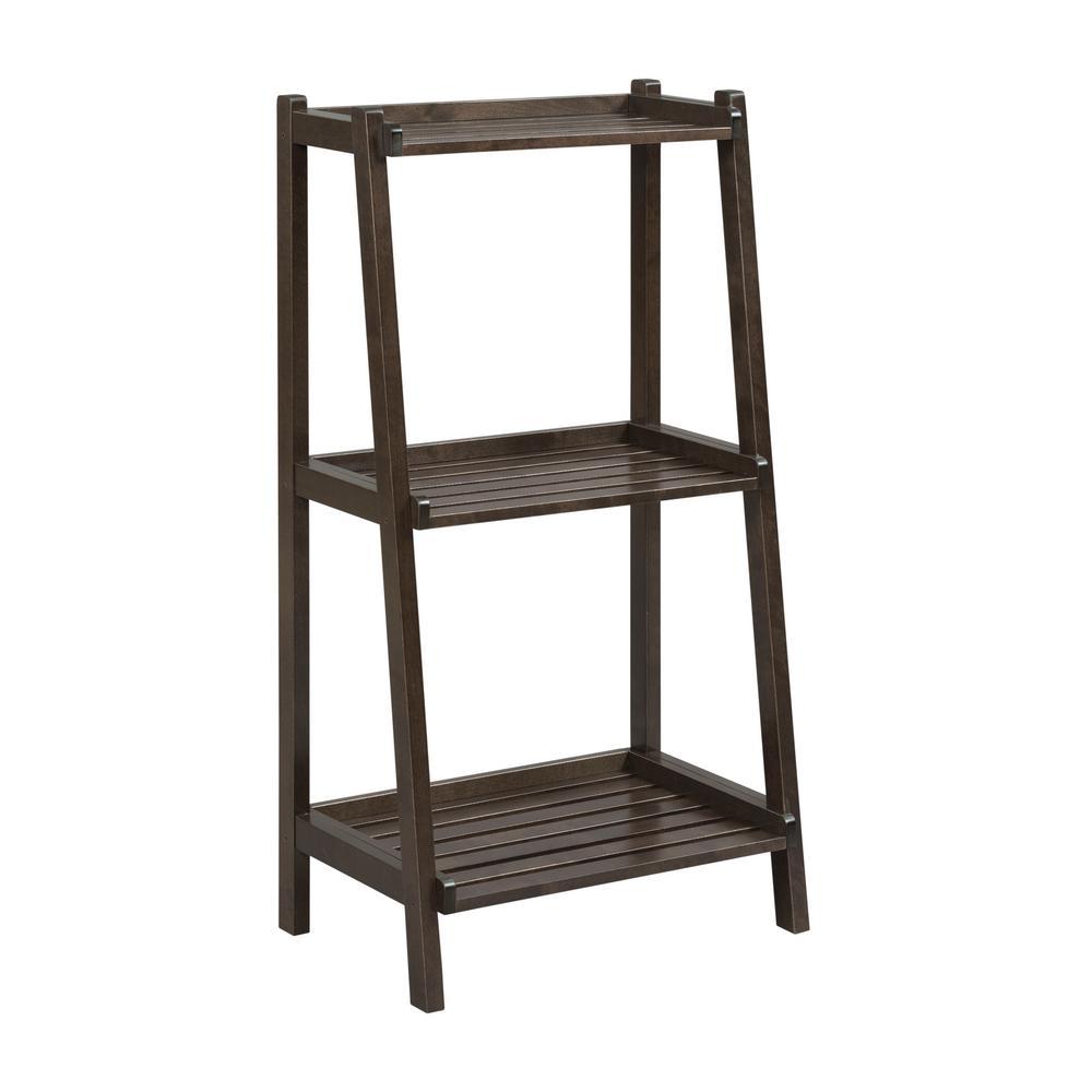 Dunnsville Espresso 3-Tier Ladder Shelf