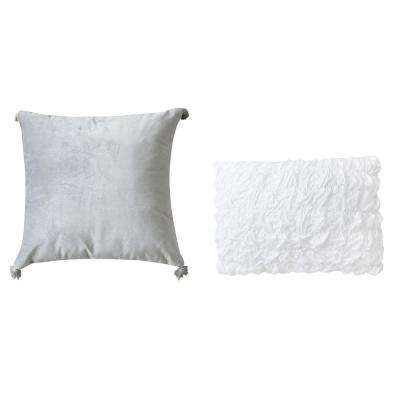 Rhapsody Cotton Sateen Throw Pillow (Set of 2)