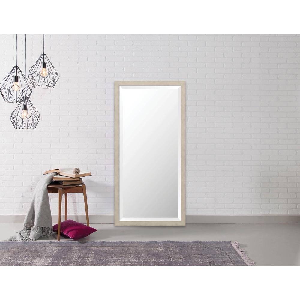 Hyde 22.875 in. x 46.875 in. Modern Framed Bevel Mirror