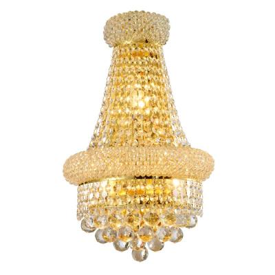 Empire 12 in. Gold Crystal Wall Sconce Light