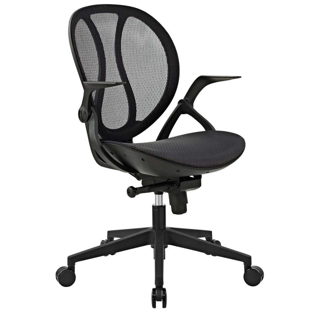 Modway Conduct Black All Mesh Office Chair