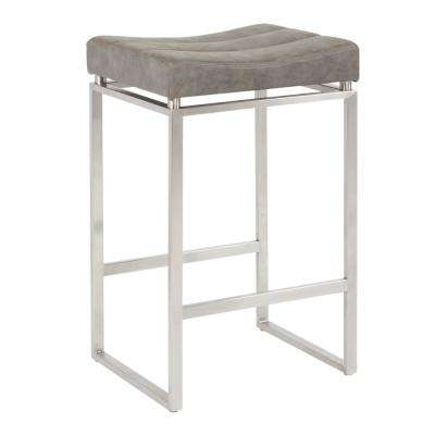 Sherese 26 in. Retro Grey Counter Stool (2-Pack)