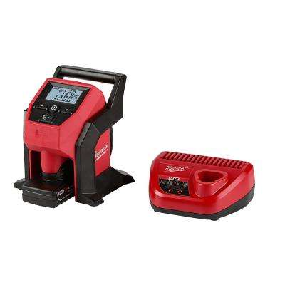 M12 12-Volt Lithium-Ion Cordless Compact Inflator Kit W/ 4.0Ah Battery & Charger