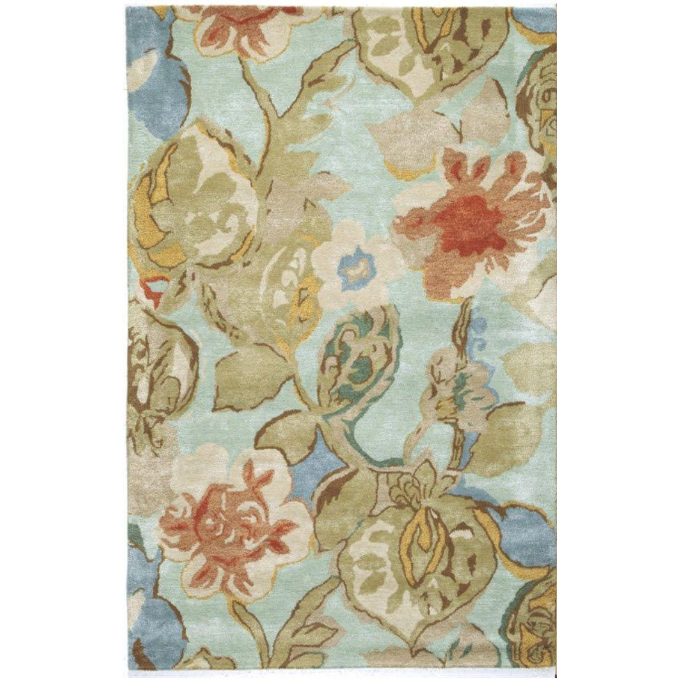 Exceptional Home Decorators Collection Balcony Sea Foam 8 Ft. X 11 Ft. Area Rug