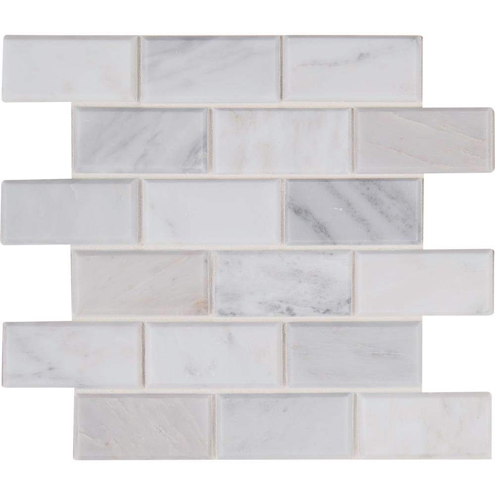 MSI Arabescato Carrara 12 in. x 12 in. x 20mm Honed Marble Mesh-Mounted Mosaic Tile (10 sq. ft. / case)