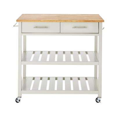Glenville Grey Double Kitchen Cart