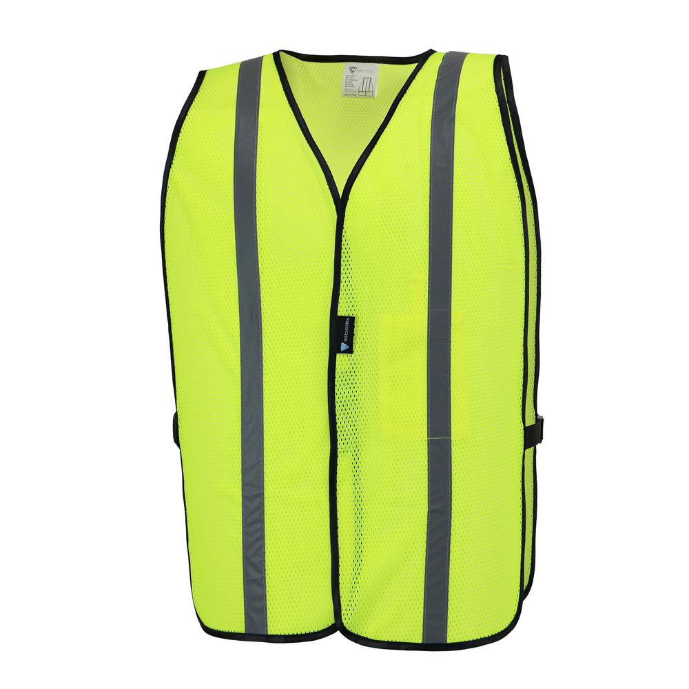 MAXIMUM SAFETY Hi-Vis Yellow Mesh Safety Vest