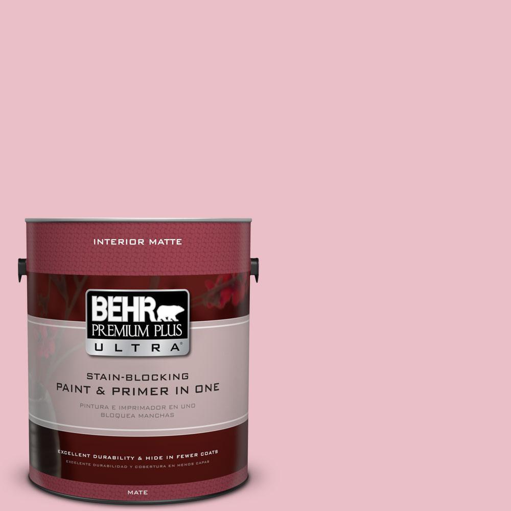 1 gal. #130C-2 Cafe Pink Flat/Matte Interior Paint