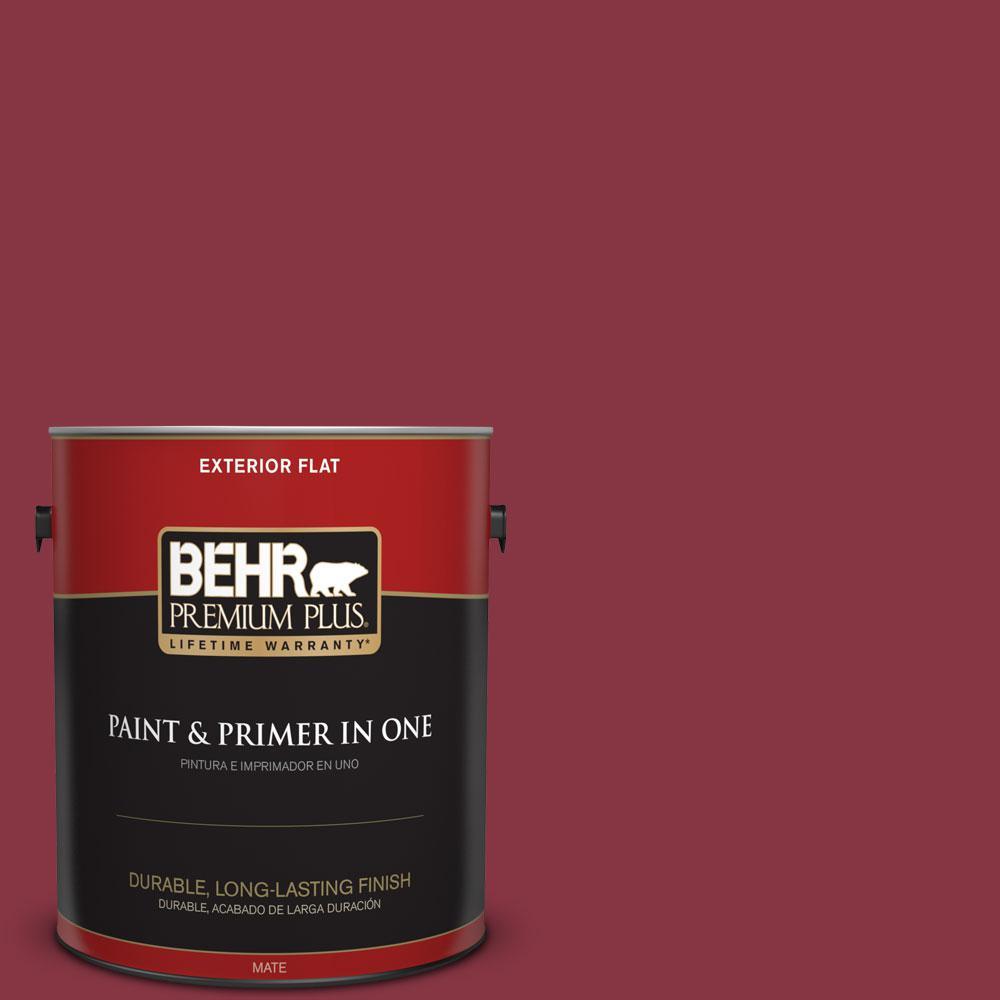 BEHR Premium Plus 1-gal. #S-H-120 Antique Ruby Flat Exterior Paint