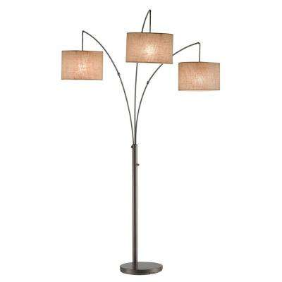 Superb Trinity 82 In. Antique Bronze Arc Lamp