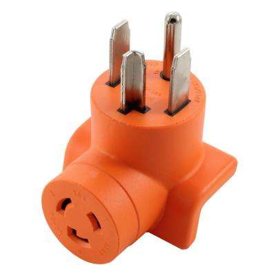 Dryer Outlet Adapter 4-Prong Dryer 14-30P Plug to L6-20R 20 Amp 250-Volt Locking Female Connector