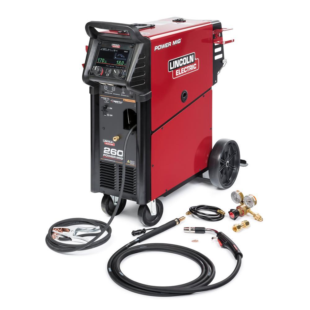 300 Amp Power MIG 260 MIG Wire Feed Welder with Magnum Pro 250L Gun 208- Volt/230-Volt/460-Volt/575-Volt