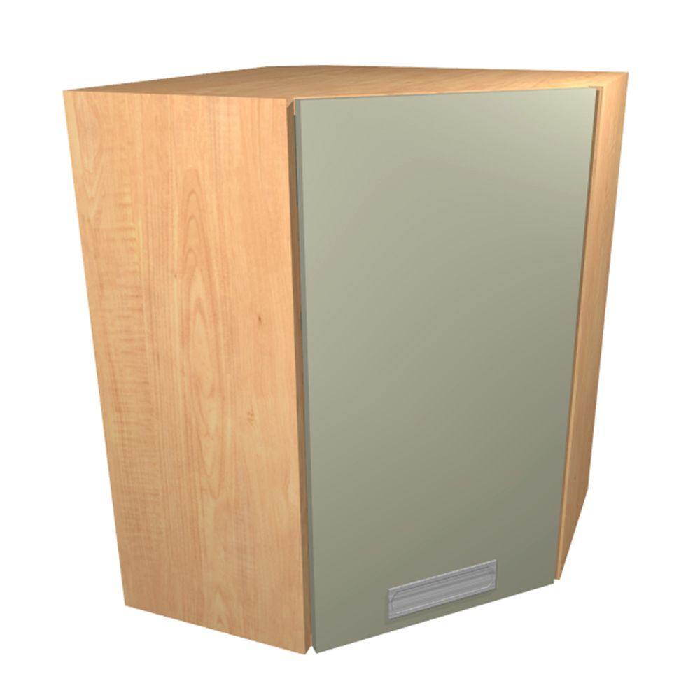 Ready To Assemble Wall Cabinet Chrome Pull Down Shelves Soft Close Doors Almond Brow 2630 Product Image