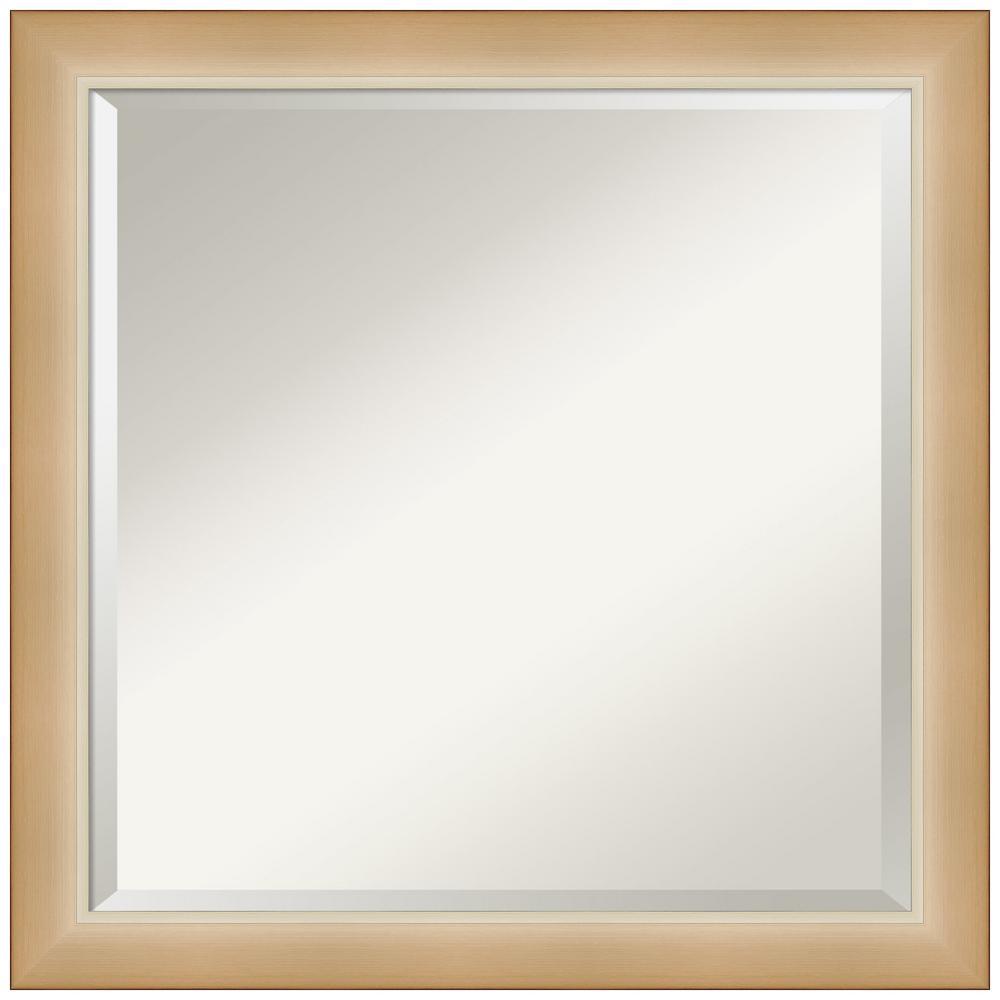 Medium Square Eva Ambre Gold Beveled Glass Modern Mirror (23.25 in. H x 23.25 in. W)