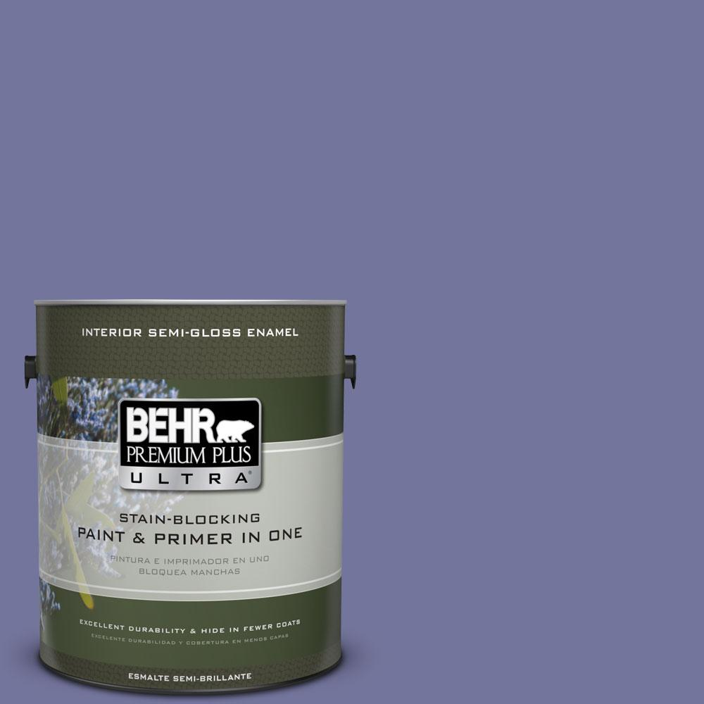 1-gal. #630D-6 Palace Purple Semi-Gloss Enamel Interior Paint
