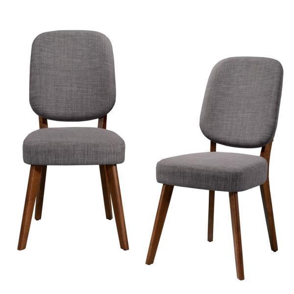 Handy Living Georgetown Walnut Armless Dining Chair with Paddle Design Back