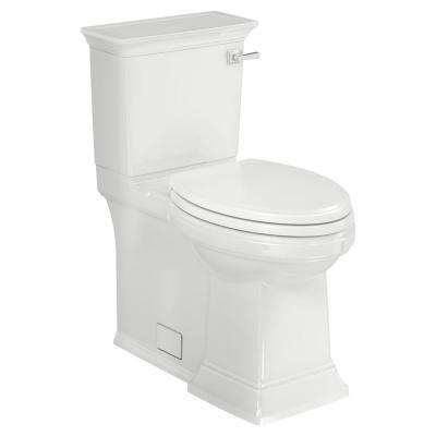 Town Square S 2-Piece 1.28 GPF Single Flush Elongated Toilet in White with Right Hand Trip Lever Seat Included