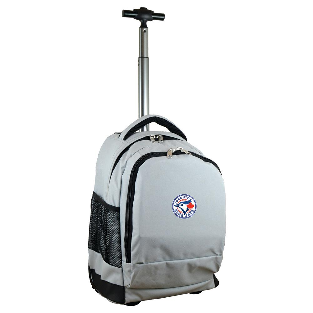 MLB Toronto Blue Jays 19 in. Gray Wheeled Premium Backpack