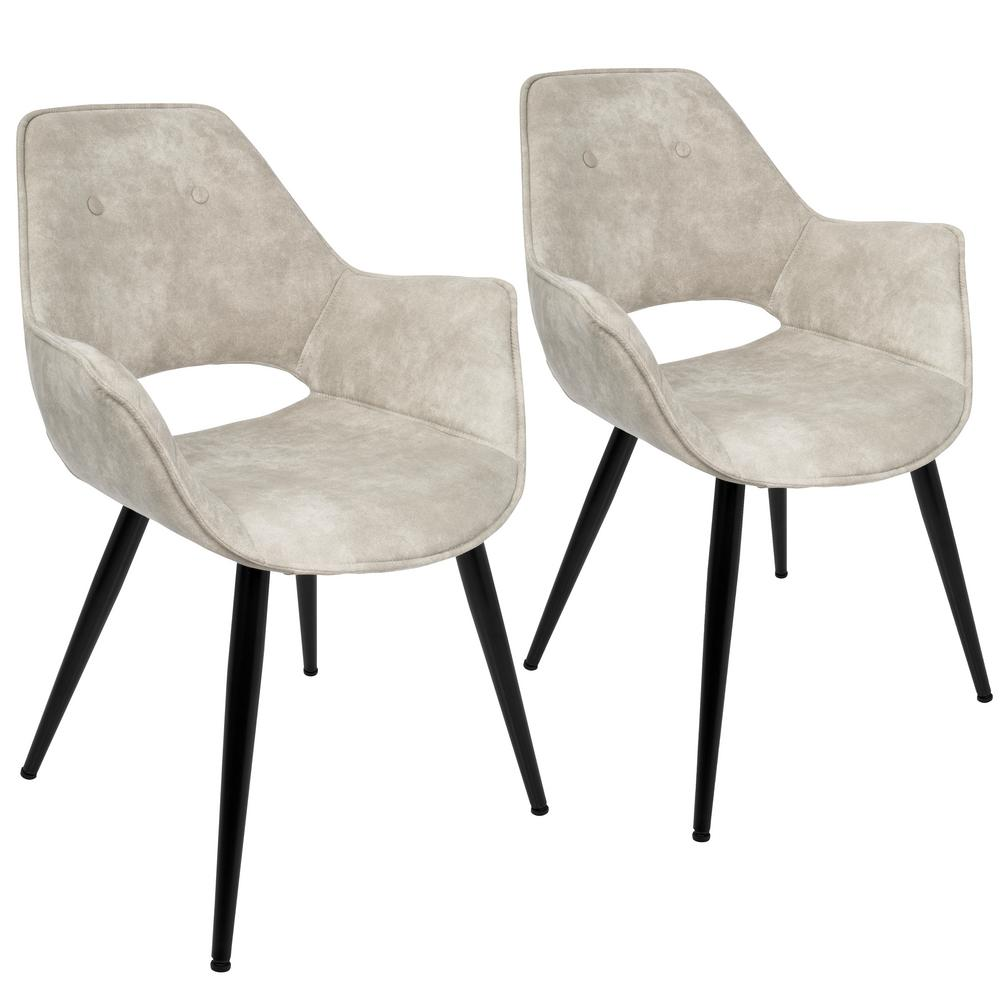 Lumisource Mustang Beige Accent Chair (Set Of 2)