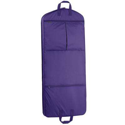 52 in. Purple Dress Length Carry-On Garment Bag with 2-Pockets