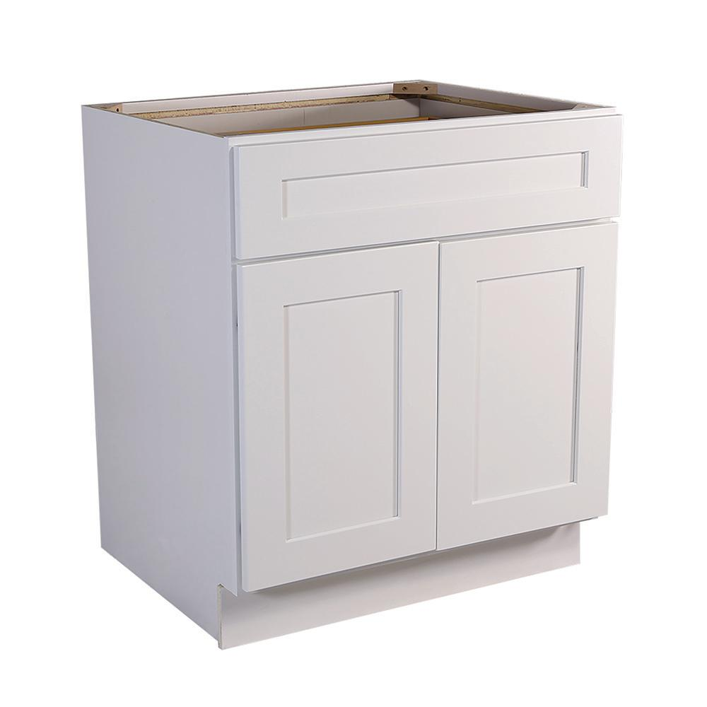 Design House Brookings Ready to Assemble 33 x 34.5 x 24 in. Base Cabinet  Style 2-Door with 1-Drawer in White