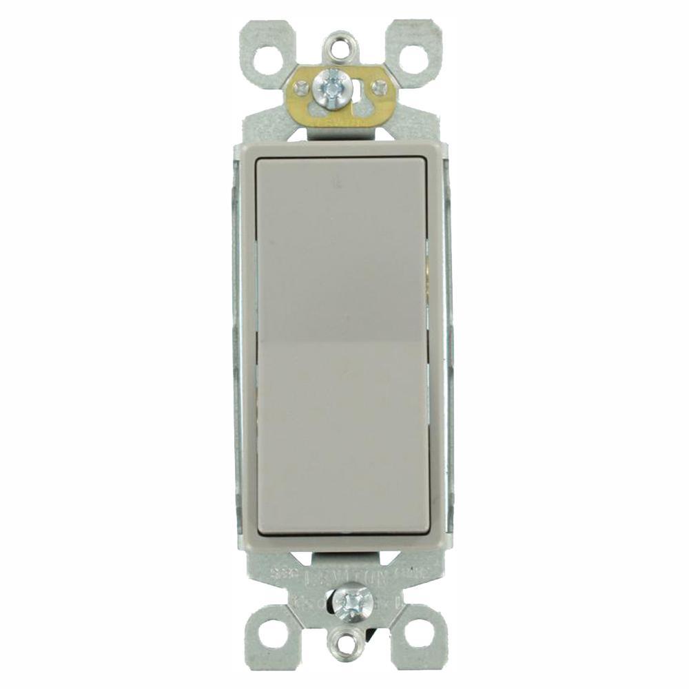 decora 15 amp 3-way rocker switch, gray (15-pack)