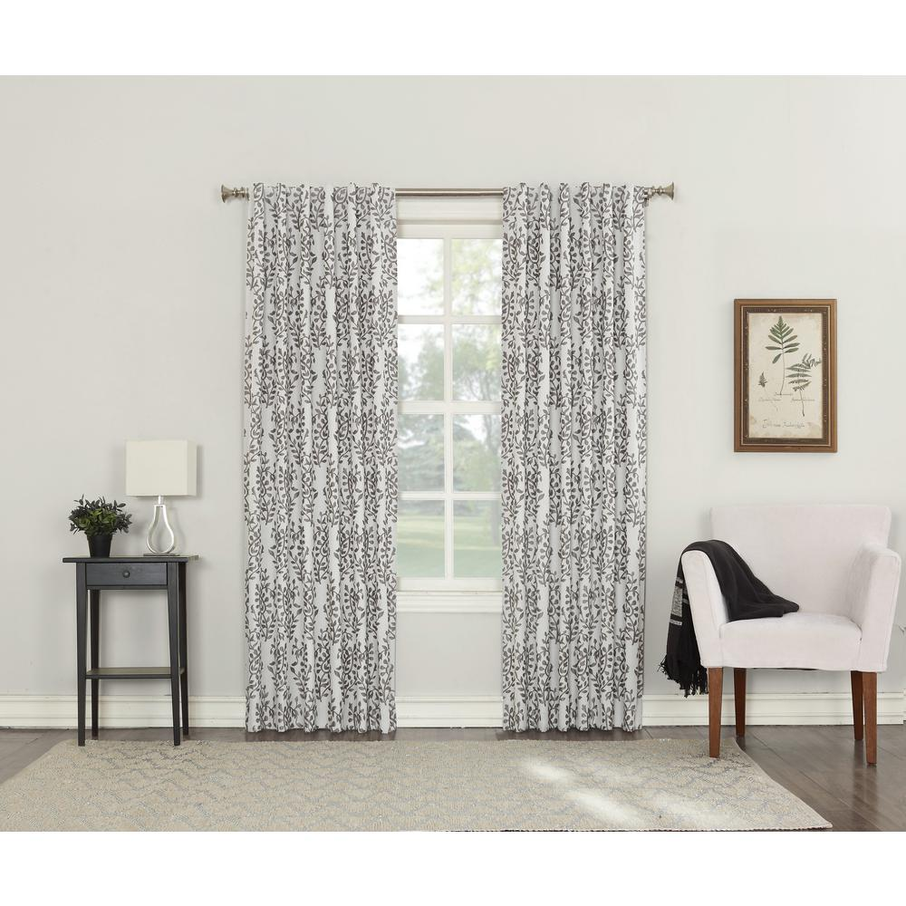 Rochelle Iron Lined Back Tab Blackout Curtain 52 In W X 95 In L